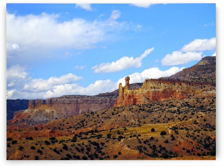 Chimney Rock Ghost Ranch NM  by Kurt Van Wagner