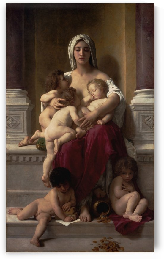 Charity by William Adolphe Bouguereau by xzendor7