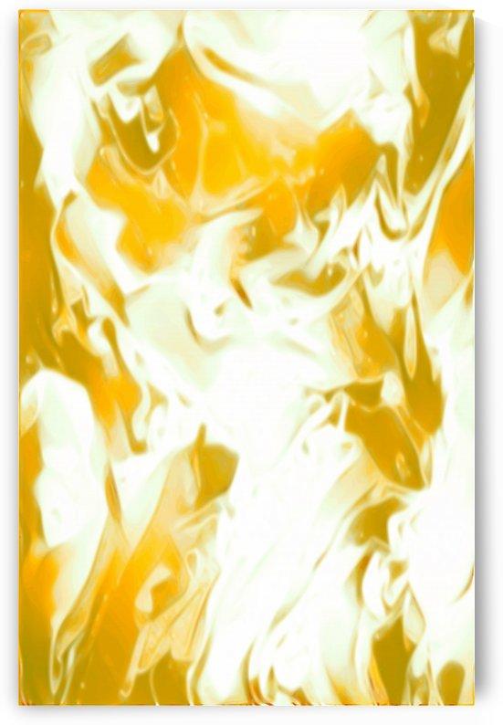 Abundant Aura - white gold swirls abstract wall art by Jaycrave Designs