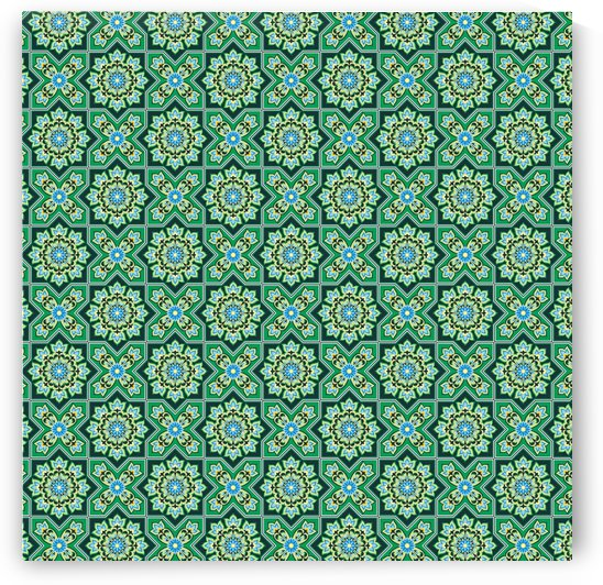 Green abstract geometry pattern by Shamudy