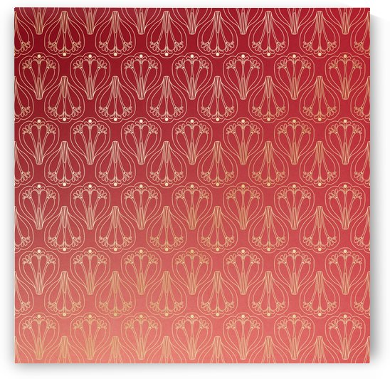 red gold art deco art deco background by Shamudy