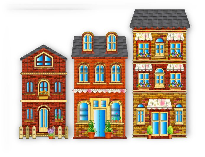city buildings brick architecture by Shamudy
