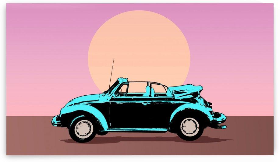 car poster retro vintage landscape by Shamudy