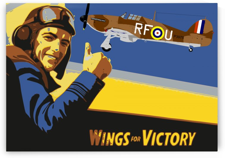 vintage war pilot airplane victory by Shamudy