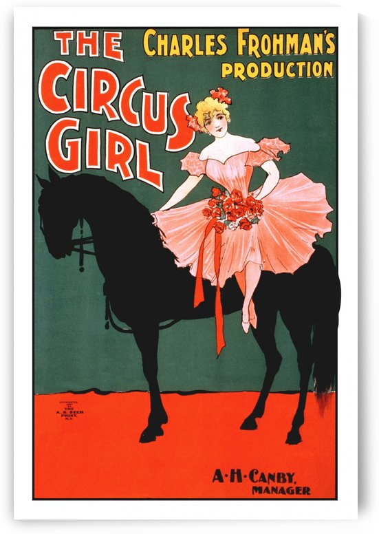 the circus girl vintage poster girl by Shamudy