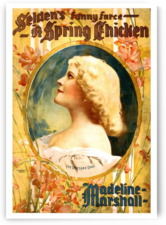 madeline marshall vintage poster by Shamudy