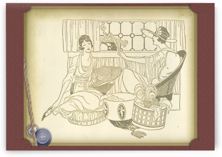 vintage card greeting ladies by Shamudy