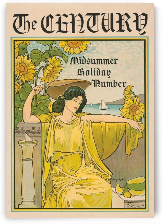 vintage lady poster 1894 magazine art by Shamudy
