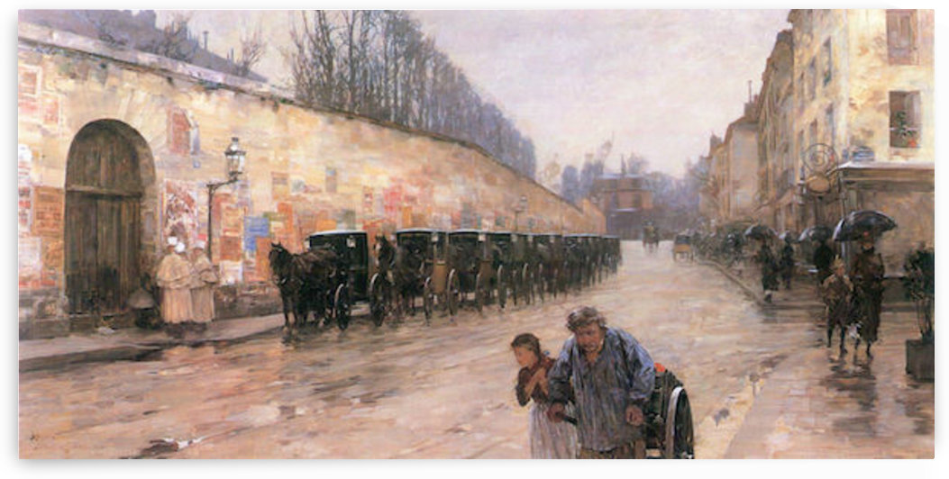 Rue Bonaparte by Hassam by Hassam