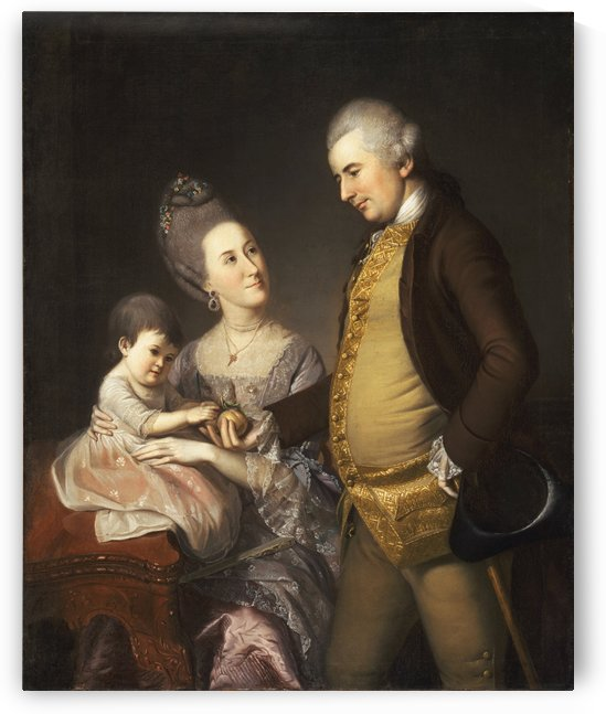 John and Elizabeth Loyd by Charles Willson Peal