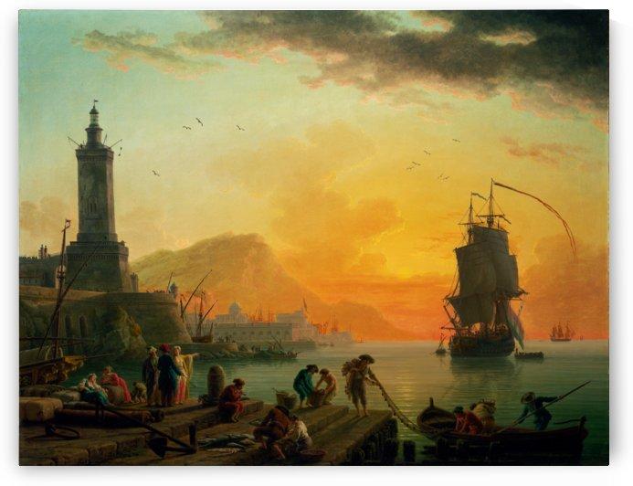 A Calm at a Mediterranean Port by Claude Joseph Vernet by xzendor7