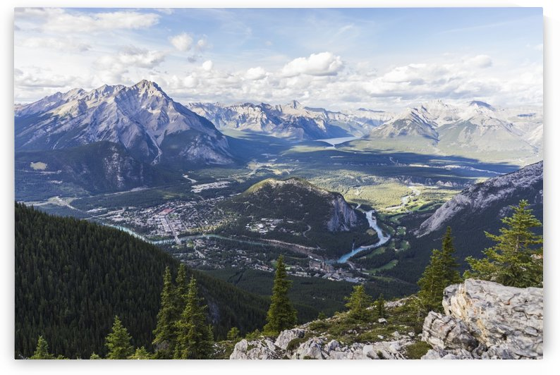 Banff from mountain top Alberta Canada by Atelier Knox