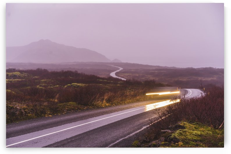 Sunset during overcast rainy day in iceland by Atelier Knox