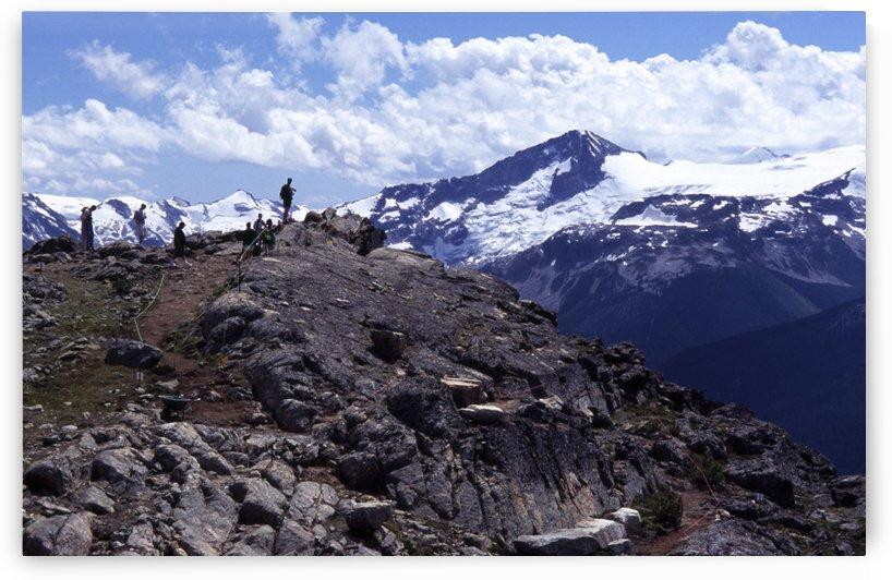 Whistler Peak Hiker On Top Of Peak by Atelier Knox