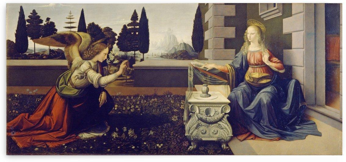 the annunciation leonardo da vinci by Shamudy