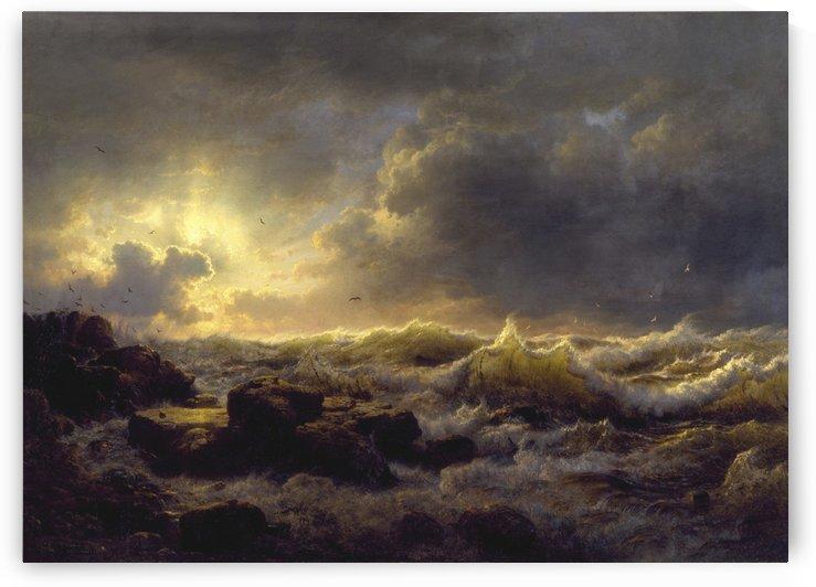 andreas achenbach sea ocean water by Shamudy