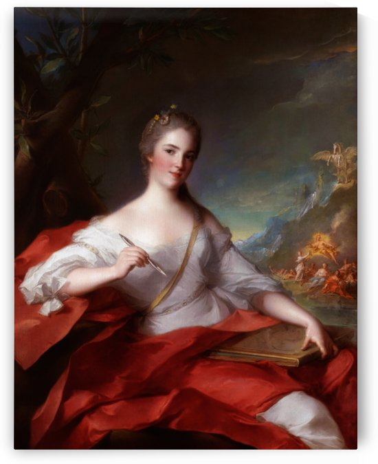 Marie-Genevieve Boudrey As A Muse by Jean-Marc Nattier by xzendor7