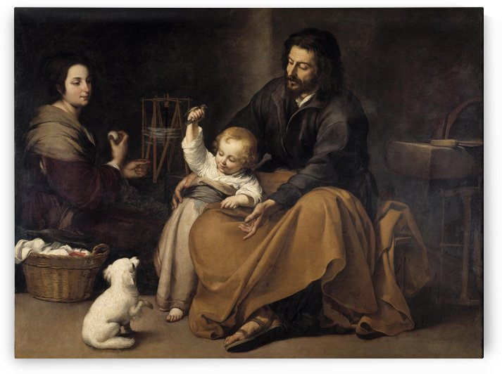 The family by Bartolome Esteban Murillo