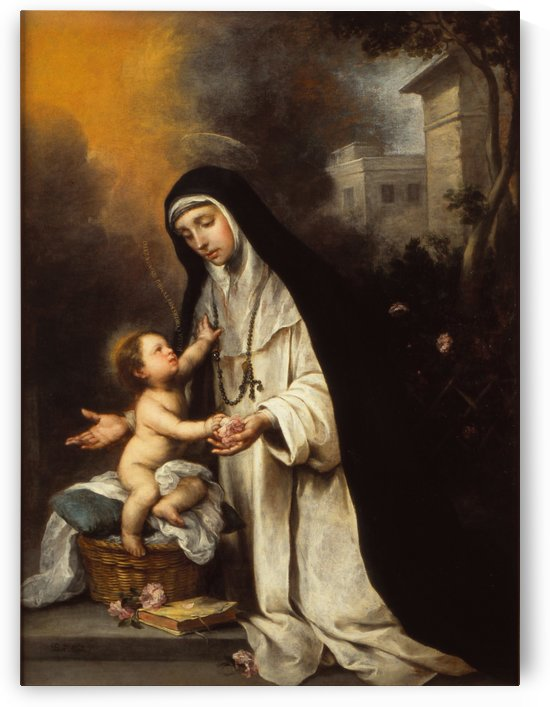 Saint Rose by Bartolome Esteban Murillo
