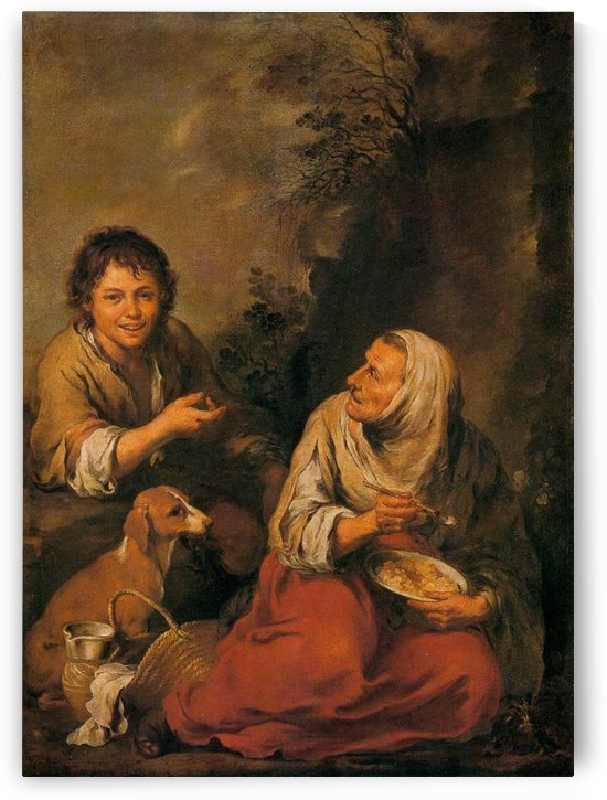 Old Woman and Boy by Bartolome Esteban Murillo