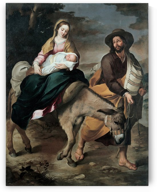 The flight into Egypt by Bartolome Esteban Murillo