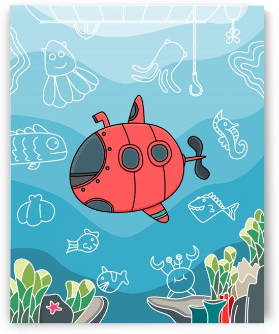 dive scuba ocean sea water fish by Shamudy
