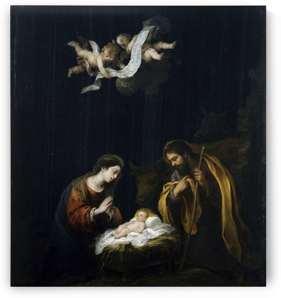 The holy birth by Bartolome Esteban Murillo