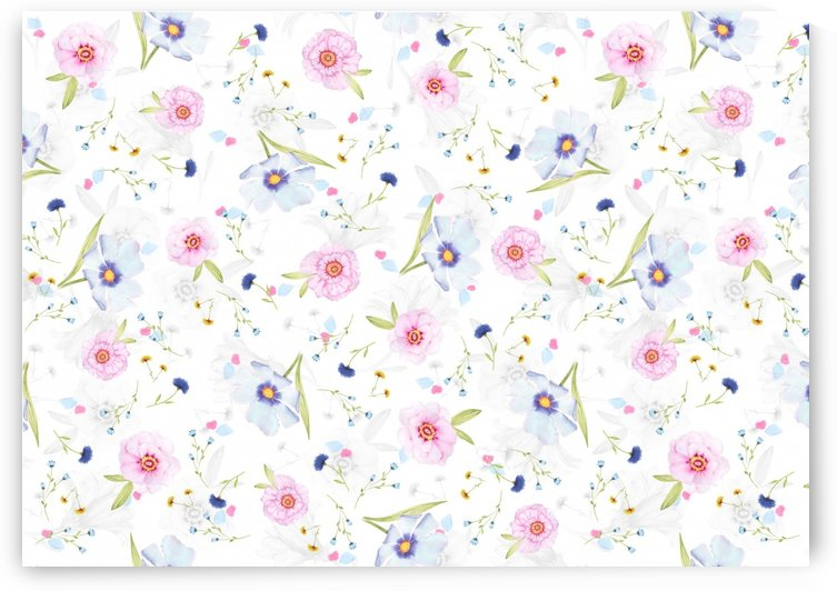 floral pattern background by Shamudy
