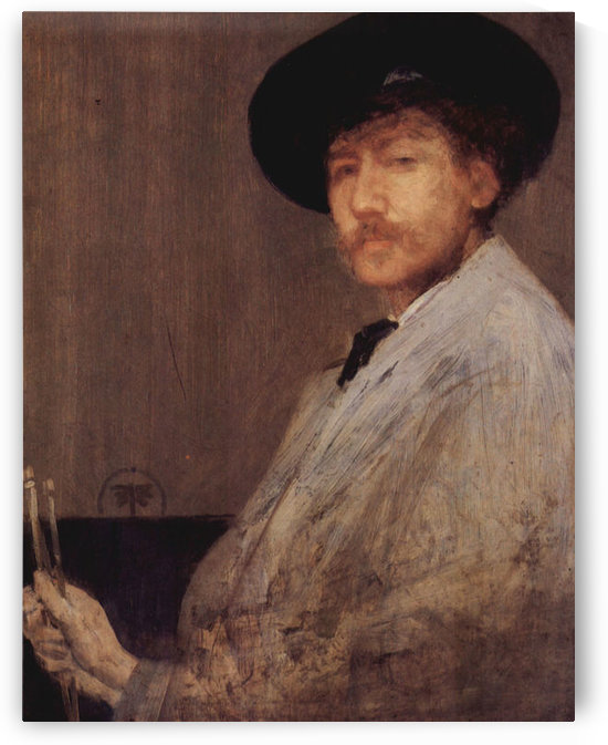 Self Portrait -1- by James Abbot McNeill Whistler by James Abbot McNeill Whistler