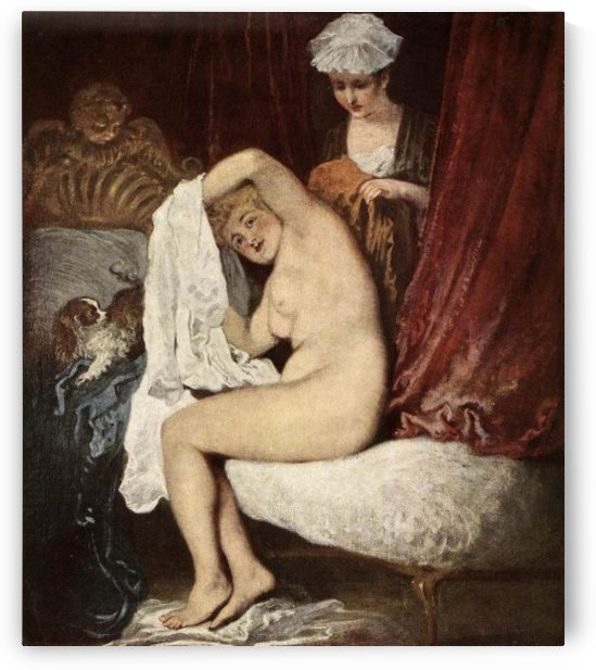 Nude woman by Bartolome Esteban Murillo
