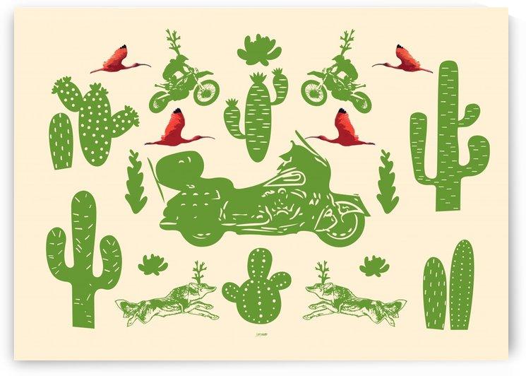 Cactuses Bikes Wolfs and Ibises by zelko radic bfvrp