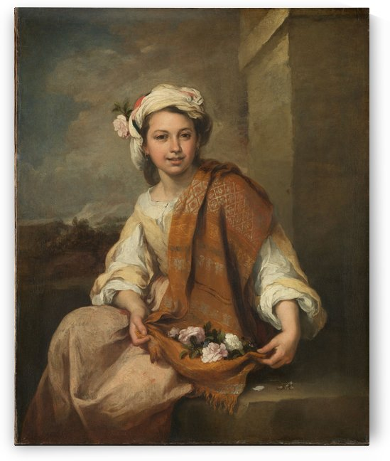 Spring the flower by Bartolome Esteban Murillo