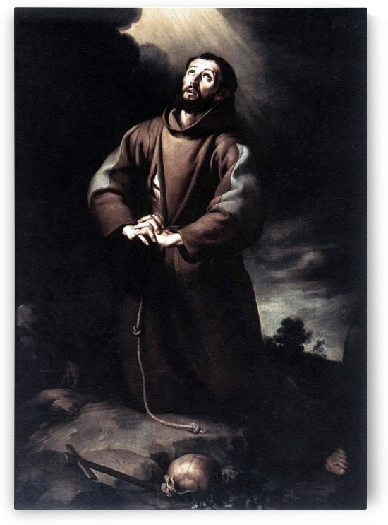 St Francis of Assisi by Bartolome Esteban Murillo