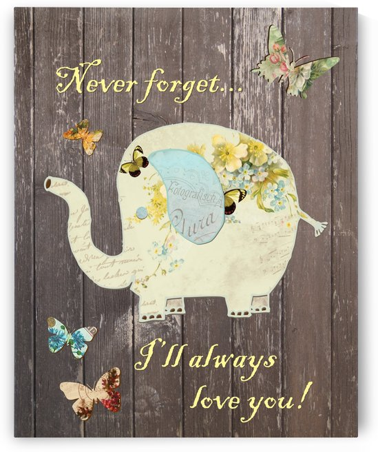Elephant Nursery Print by JoDitt Designs
