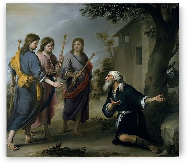 Abraham and the three angels by Bartolome Esteban Murillo