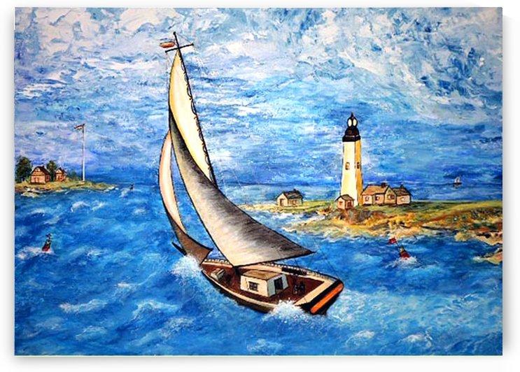 Sail in a Storm by Nicos Karousatos