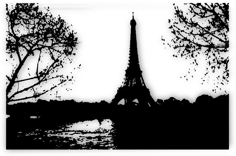 paris eiffel tower landscape trees  by Shamudy