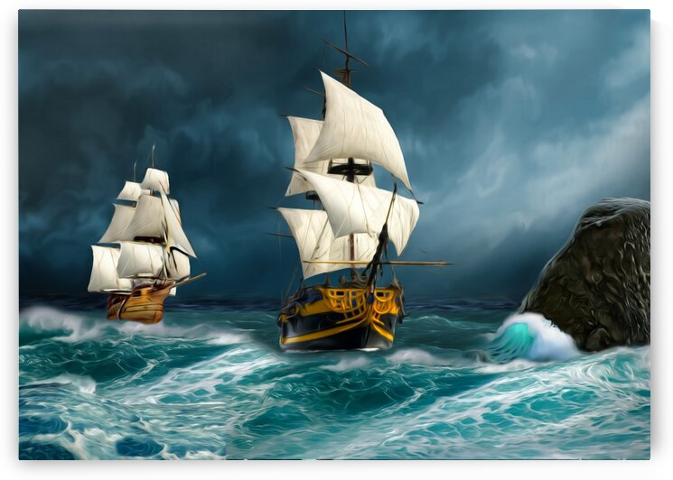 Desperate and fearless sailors. by Radiy Bohem