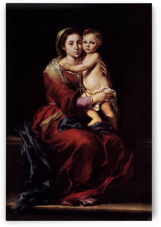 The Virgin of Rosary by Bartolome Esteban Murillo