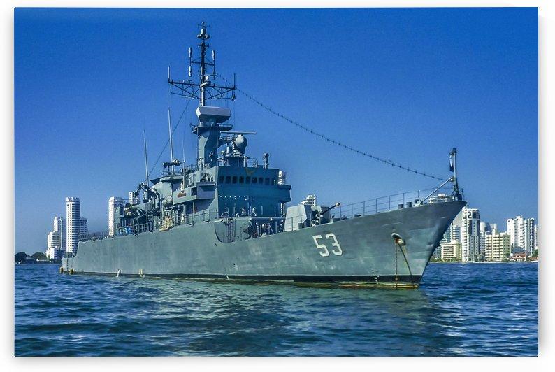 Army Ship in Caribbean Sea, Cartagena   Colombia by Daniel Ferreia Leites Ciccarino