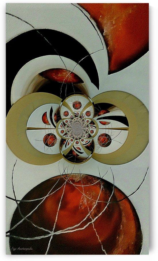 Cosmic Kaleidoscope Amber by Faye Anastasopoulou