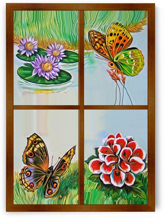 Window to world of nature 6 by Radiy Bohem