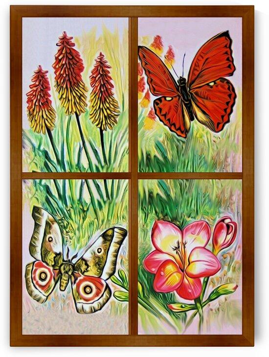 Window to world of nature 5 by Radiy Bohem