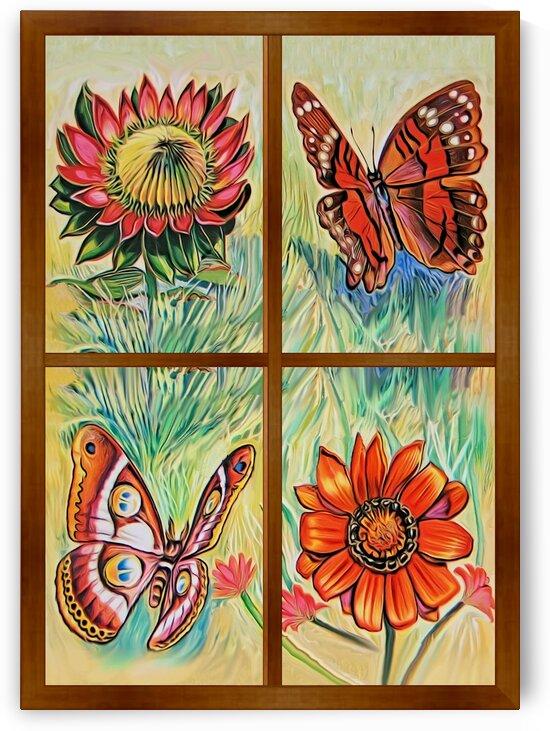 Window to world of nature 3 by Radiy Bohem