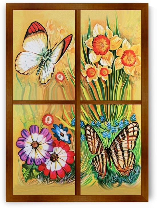 Window to world of nature 2 by Radiy Bohem