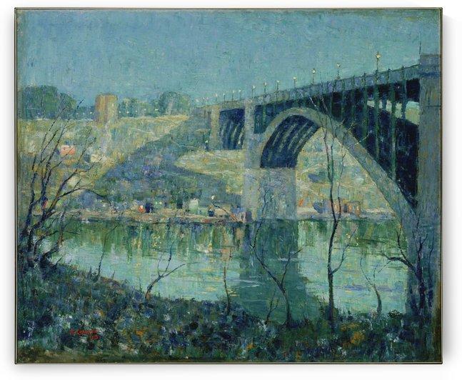 Spring Night Harlem River by Ernest Lawson