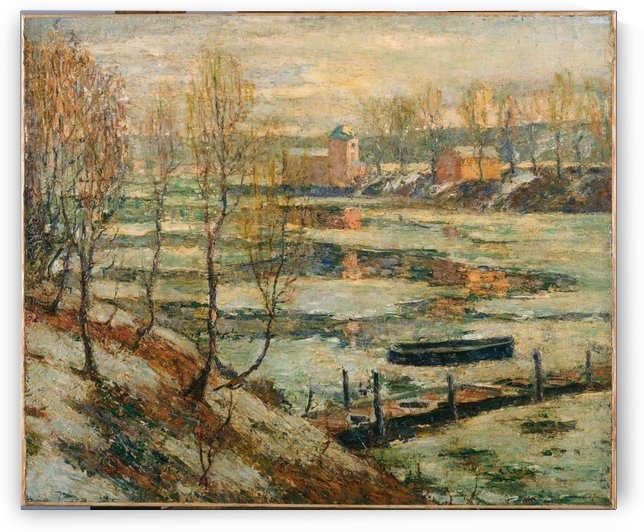 Ice in the River by Ernest Lawson