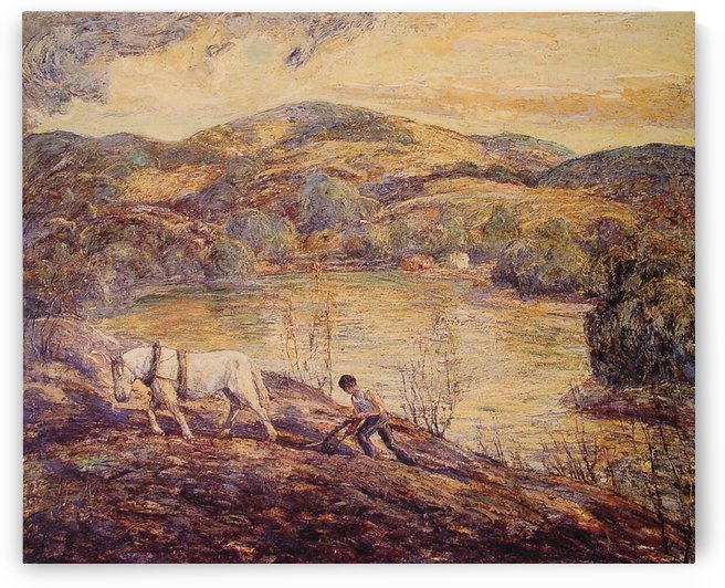 Horse by the lake by Ernest Lawson