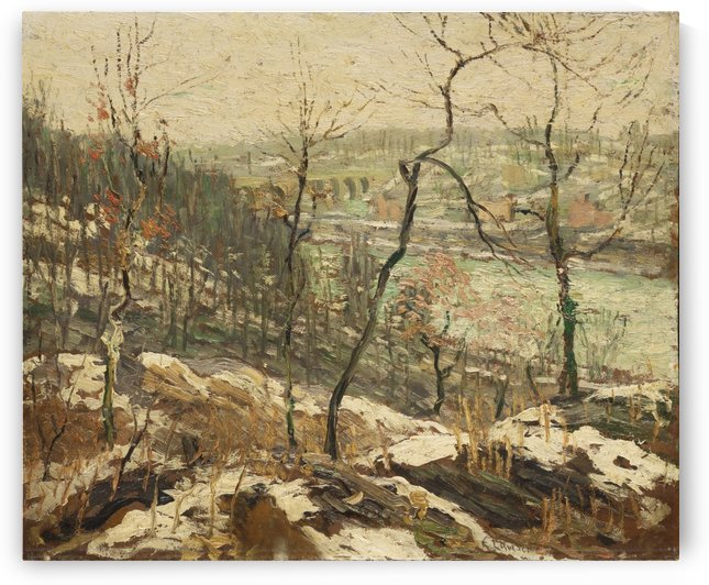 Landscape near the Harlem River by Ernest Lawson