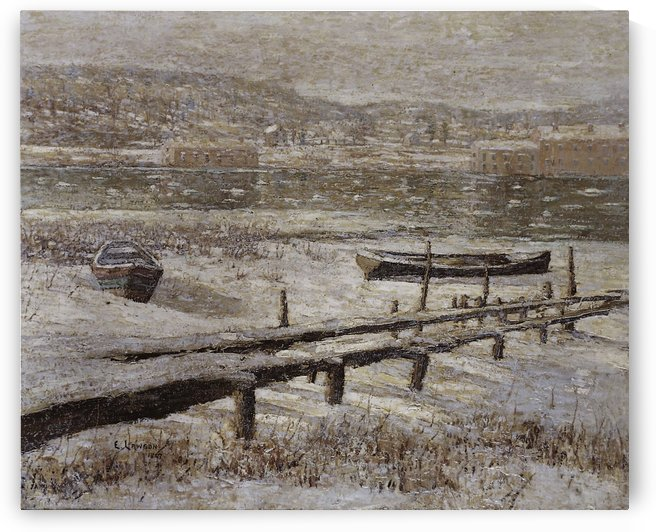 Winter on the river by Ernest Lawson